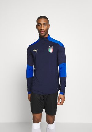 ITALIEN TRAINING ZIP - Landslagströjor - peacoat/power blue