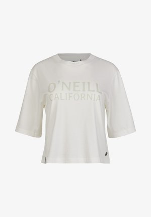 Print T-shirt - powder white