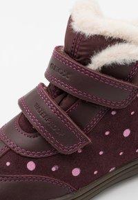 Geox - HADRIEL GIRL WPF - Classic ankle boots - dark burgundy - 5