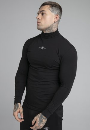 SIKSILK TRANQUIL TURTLE NECK TEE - Long sleeved top - black