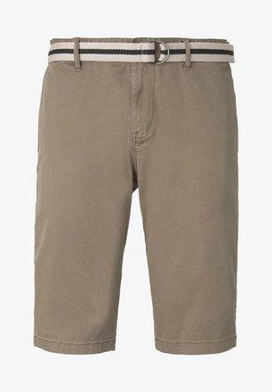 Shortsit - beige rhomb design