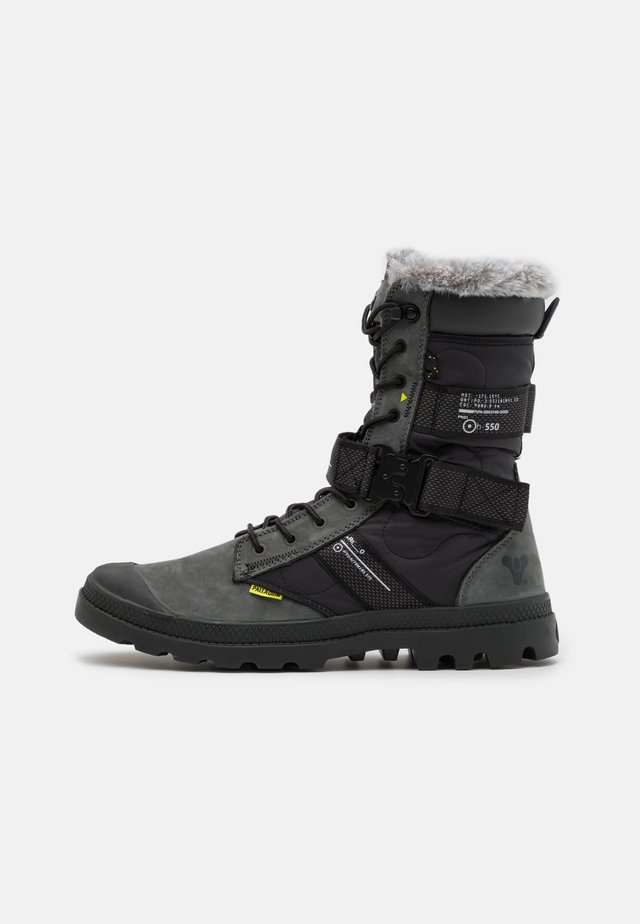 DESTINY BOOT HIGH - Lace-up boots - black/raven