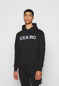 Iceberg - FELPA HOODIE - Hoodie - nero - 0