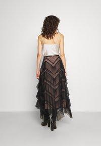TWINSET - GONNA LUNGA BALZE - A-line skirt - nero - 2