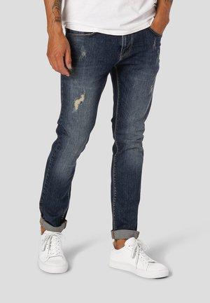 DAVID STRETCH  - Jeans slim fit - 2005 dark blue destroyed