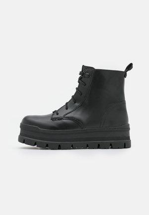 SIDNEE - Šněrovací kotníkové boty - black