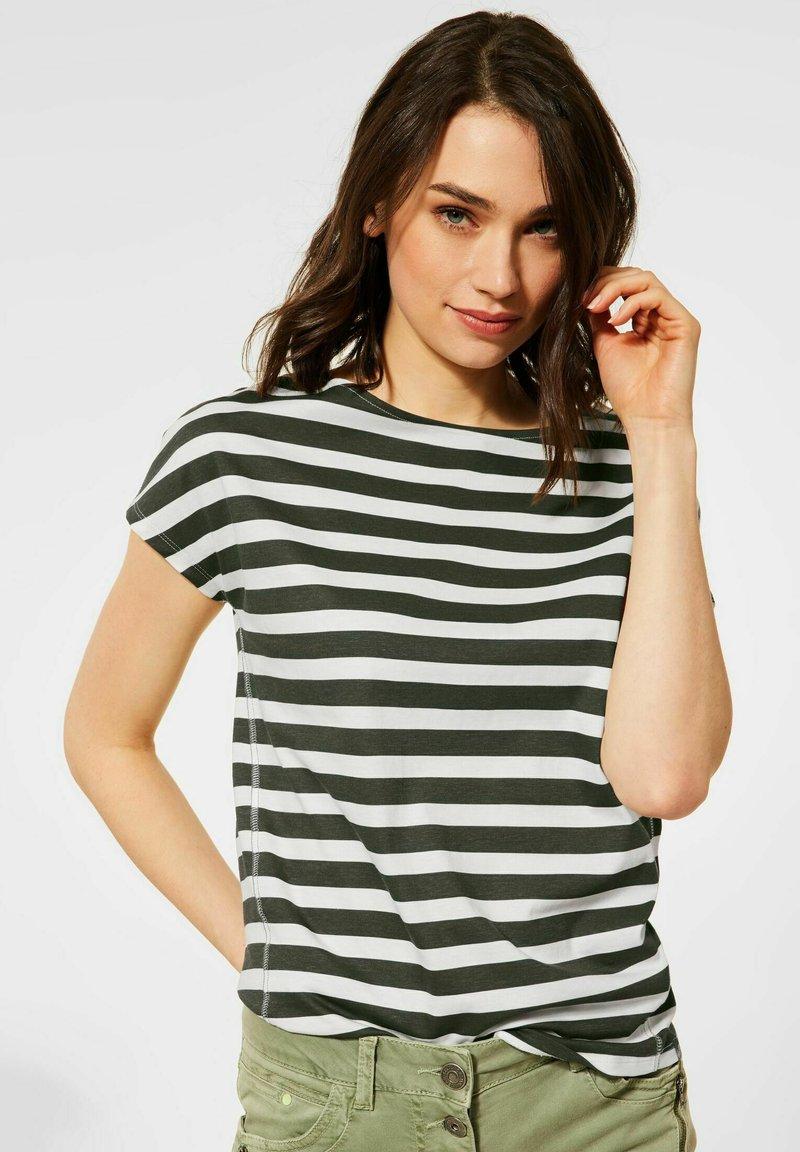 Cecil - Print T-shirt - grün