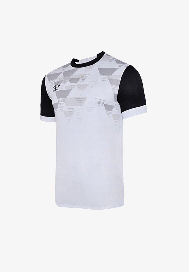 Basic T-shirt - weissschwarz