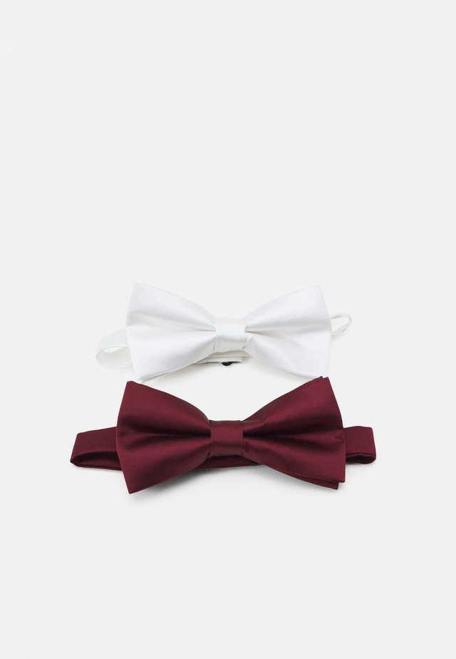 2 PACK - Noeud papillon - bordeaux/white