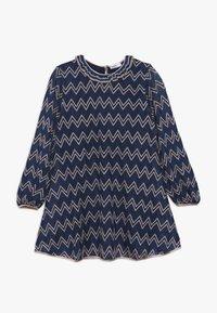 Missoni Kids - DRESS - Pletené šaty - blue - 0