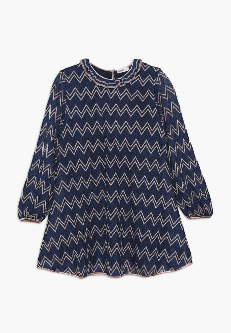 Missoni Kids - DRESS - Pletené šaty - blue