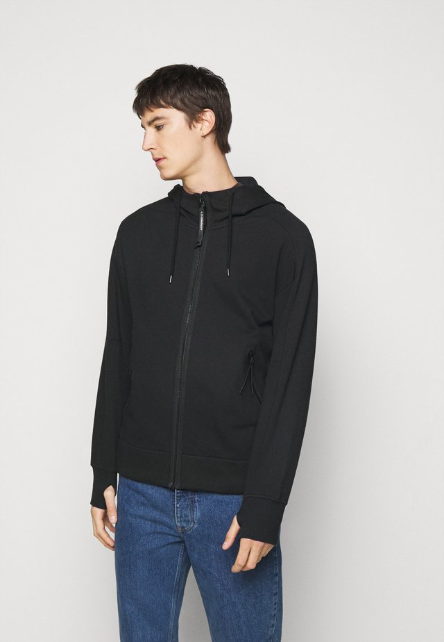 HOODED OPEN - Sweater - black