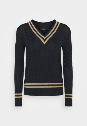 Sweter - navy/gold