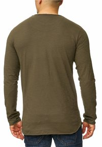 INDICODE JEANS - LONGSLEEVE WILLBUR - Long sleeved top - dark green - 2