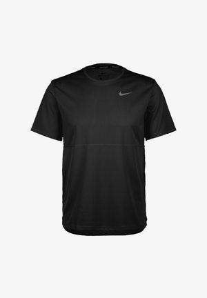 RUN  - Print T-shirt - black/reflective silver