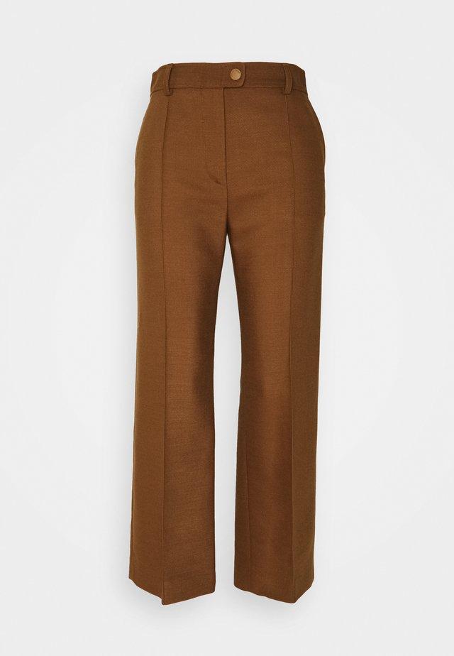 Spodnie materiałowe - pottery brown