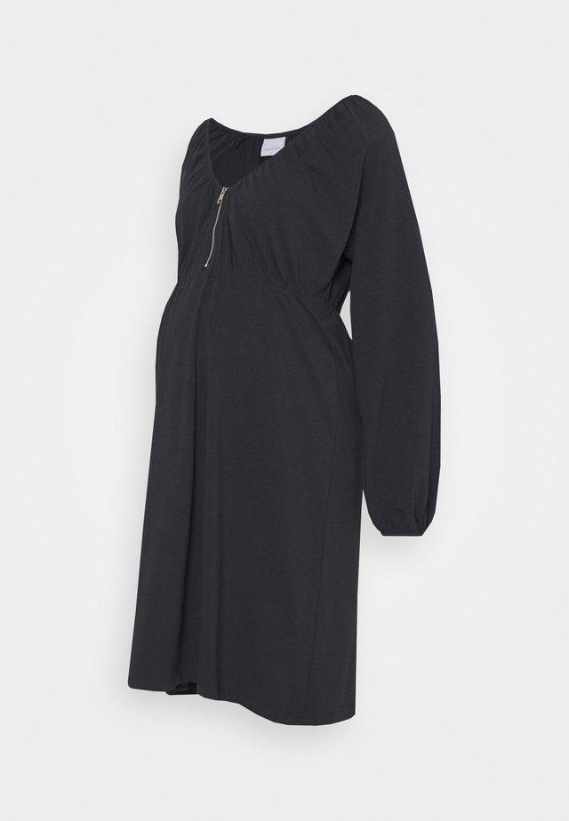 NURSING DRESS - Žerzejové šaty - dark navy