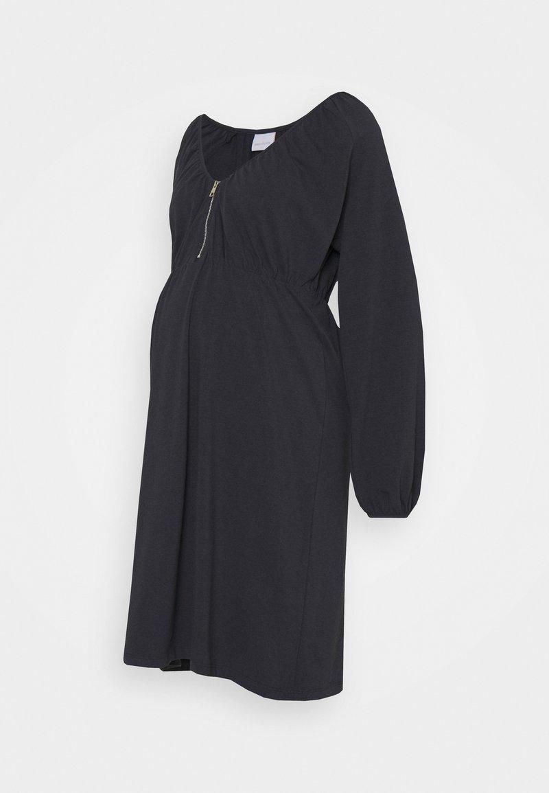 MAMALICIOUS - NURSING DRESS - Jersey dress - dark navy