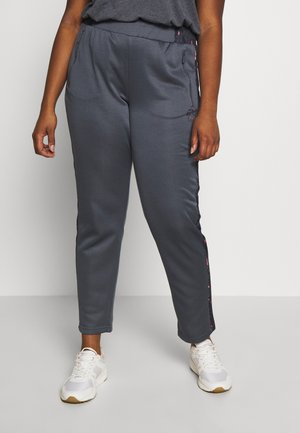 ONPMABELLE PANTS CURVY - Tracksuit bottoms - turbulence/black