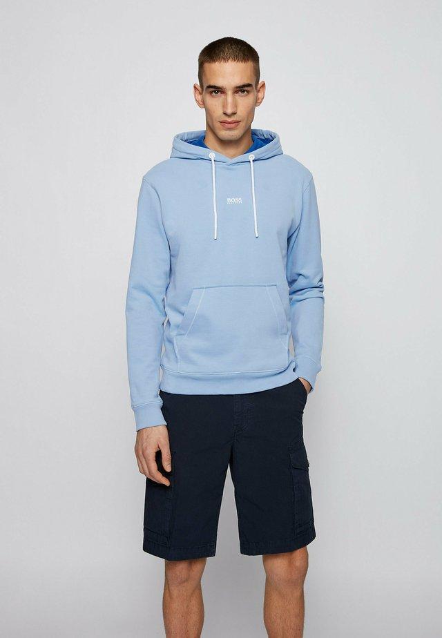 Hoodie - open blue