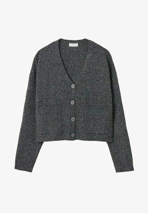 Cardigan - dark heather grey