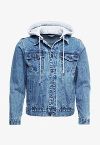 SIKSILK - DETACHABLE HOOD - Chaqueta vaquera - mid wash blue - 3