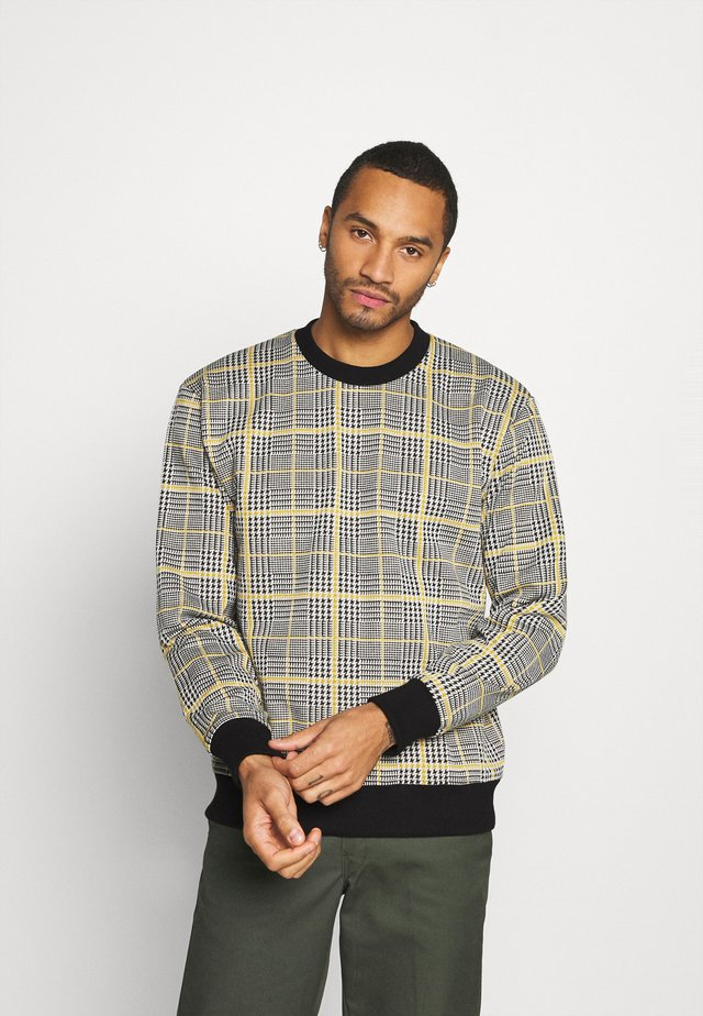 MUSTARD CHECK CREW - Sweater - yellow