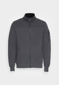 Calvin Klein - TEXTURE BLOCK ZIP JACKET - Mikina na zip - dark grey heather - 3