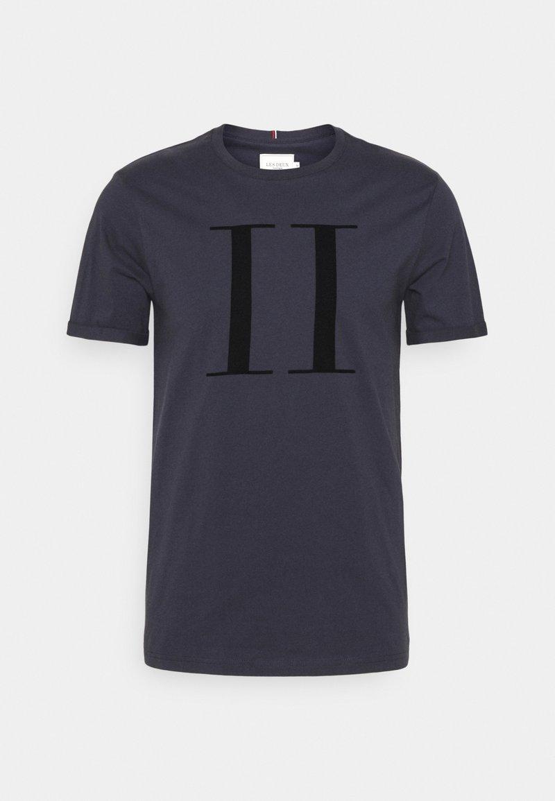 Les Deux - ENCORE  - Print T-shirt - navy