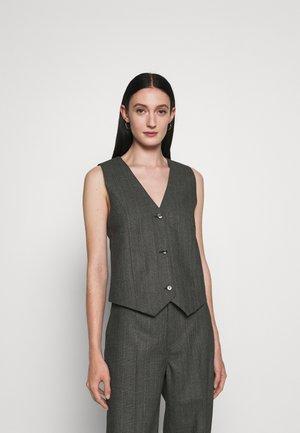 MARIA - Vest - black/grey melange