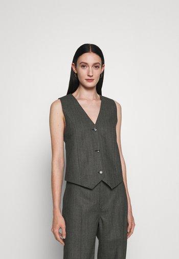 MARIA - Waistcoat - black/grey melange
