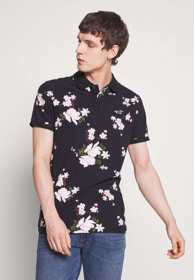 HERITAGE FLORAL PRINT - Polo - black