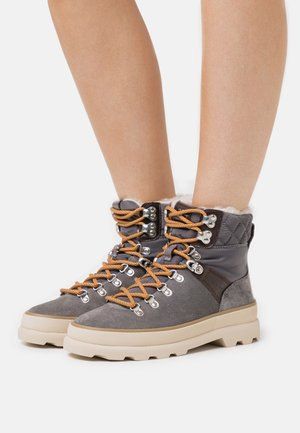 KAARI MID LACE BOOT - Lace-up ankle boots - mid gray