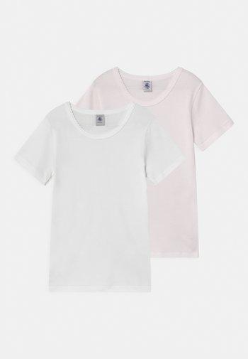 MILLERAIS 2 PACK - Print T-shirt - white/pink