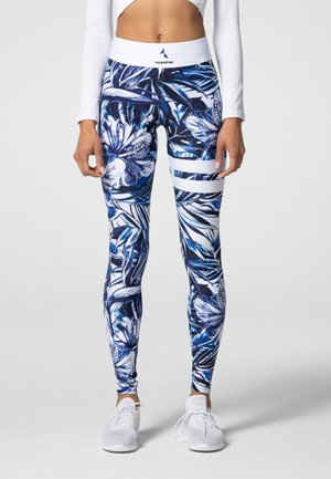 TROPICAL TIGHTS - Leggings - blue