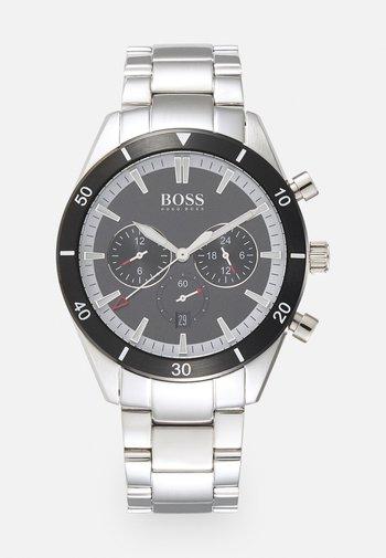 SANTIAGO - Watch - silver-coloured/black