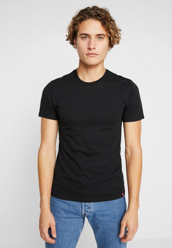 Levi's® SLIM CREWNECK 2 PACK - T-shirt basic - black/czarny Odzież Męska BWBF
