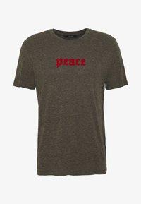 PEACE - T-shirt z nadrukiem - khaki