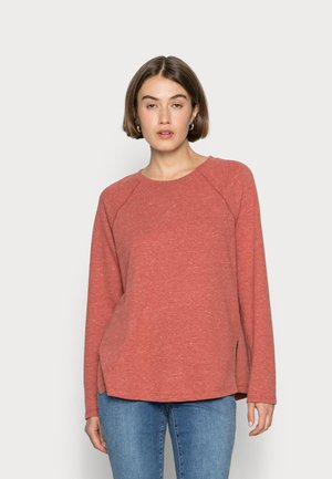 RAGLAN LONG SLEEVE TEE SOLID - Sweater - heather weathered brick
