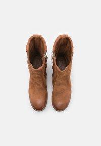 A.S.98 - Cowboy/biker ankle boot - calvados - 5