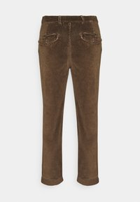 Jack & Jones - JJIACE JJCORDUROY EARTH - Spodnie materiałowe - dark earth - 1
