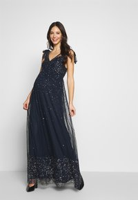 Maya Deluxe Maternity - TIE SHOULDER MAXI DRESS - Iltapuku - navy