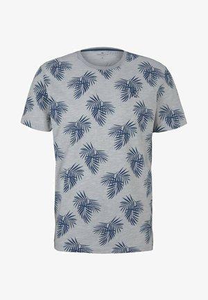 T-shirt print - yarn dye stripe white