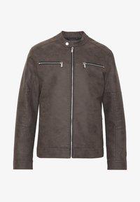ONSFAVOUR JUPITER  - Faux leather jacket - black coffee