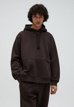 Hoodie - mottled brown