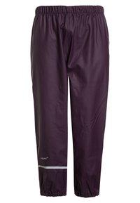 CeLaVi - RAINWEAR SUIT BASIC SET WITH FLEECE LINING - Rain trousers - blackberry wine - 3