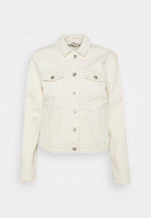 ONLTIA LIFE JACKET  - Denim jacket - ecru