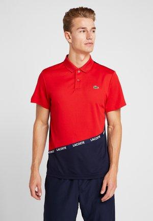 TENNIS - Sports shirt - red/navy blue