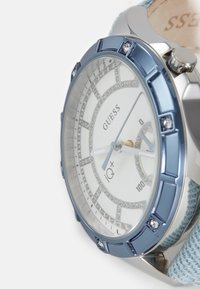 Guess - Watch - silver-coloured/ blue denim - 4
