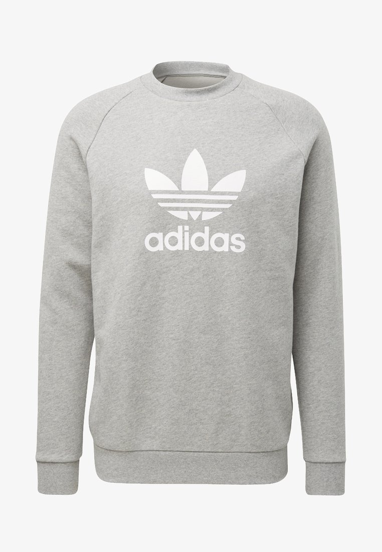 adidas Originals - TREFOIL CREW UNISEX - Collegepaita - medium grey heather